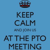 First PTO Meeting/Back to School Night